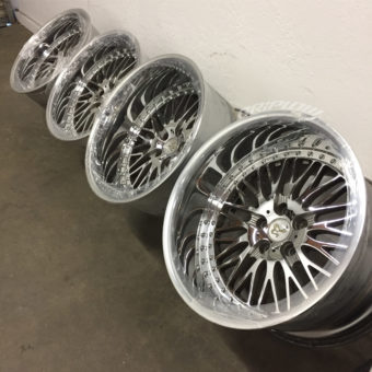 Work wheels bersaglio jdm drift s14 chrome