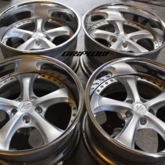 "Work VS-KF vs kf wheels JDM rebuild 3 piece three piece griplow silver 18 18"" 18x9 18x10"