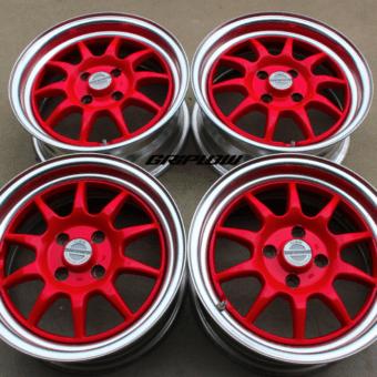 GAB sport wheels jdm import 4x100 rare red