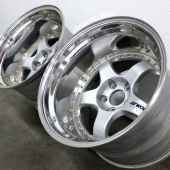 work meister s1 wheels gold rebuild drift s13 s14
