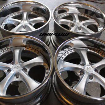 "Work VS-KF vs kf wheels JDM rebuild 3 piece three piece griplow silver 18 18"" 18x9 18x10"